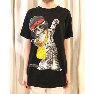 """All Gold Everything""  Cat T Shirt / ヒップホップネコTシャツ トリニダード・ジェイムス"