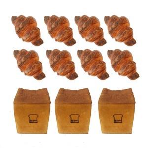 もり角食パン 3斤 & ミニクロワッサン8個