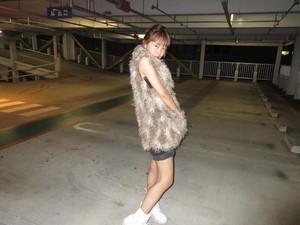 Vintage faux fur vest 90s