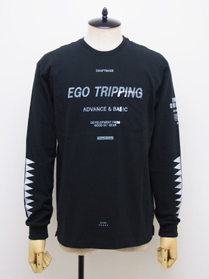 EGO TRIPPING (エゴトリッピング) SPINE TEE / BLACK   663201-05