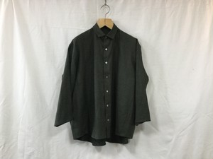 "semoh""3/4 sleeve wide shirt olive"
