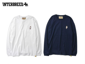 INTERBREED P WING BEAR EMBROIDERED LS TEE