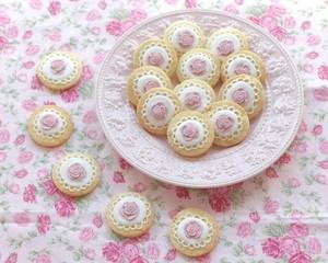 【バラ・ローズ】アイシングクッキー