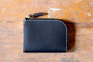Small Wallet 〜Elbamatt〜 BLACK L字ファスナーマルチミニウォレット