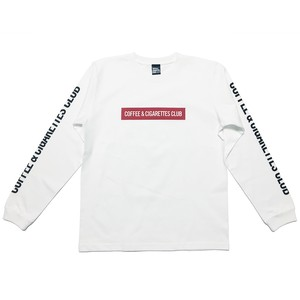 Box logo Long sleeve T-shirts [white / red]