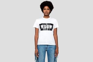 【MSGM】レディース ボックスロゴTシャツ【2019SS】