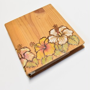 Wood File A5 【Hibiscus Lei & Motif】