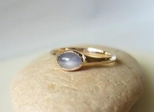 天然スターサファイアとK10の指輪