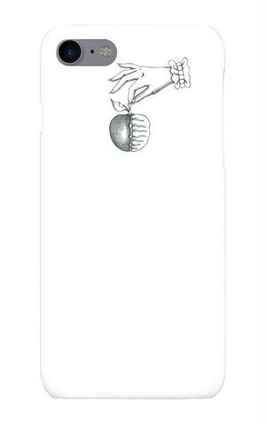 [7]iPhoneケース死んでるリンゴ死んでるリンゴ白黒