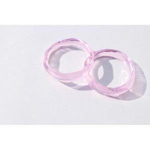 glass ring #1-pink
