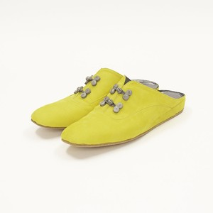Room Shoes -Yellow × Gray-