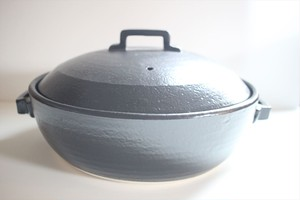 三鈴陶器|スタイル鍋9号 黒