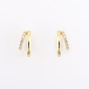 Double hoop diamond pierce