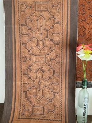 泥染め布中型 50x100cm タペストリー8 シピボ族の泥染め 先住民族の工芸 インテリア雑貨
