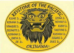 沖縄ステッカー シーサー黄色