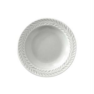 波佐見焼 翔芳窯 ローズマリー リムプレート 皿 9.5cm マットグレー
