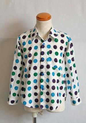 ドットシャツ_BLUE