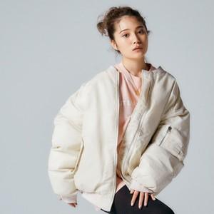 【翌日発送/1点限定】【浪花ほのか着用】One color oversize MA-1 jacket LD0242