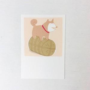 ポストカード 収穫犬