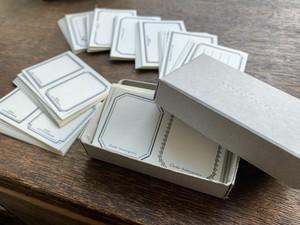 【活版印刷】LETTERPRESS sticker BOX ブラック / ブロンズ(72枚入り)