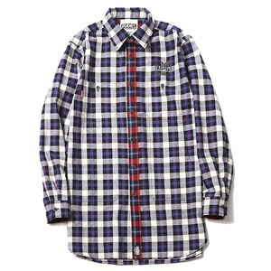 "RUDIE'S / ルーディーズ  | 【SALE!!!】 "" DRAWING LONG SHIRTS   "" Blue-Check"