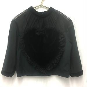 velour heart lovely top