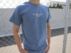 ThreeArrows Message Tシャツ(vintage blue)