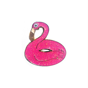 "STUPID KRAP""GLITTER INFLATABLE FLAMINGO PIN"""