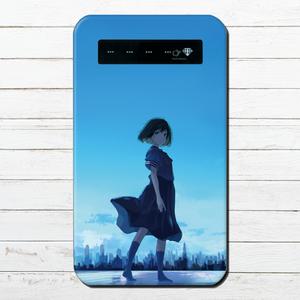 #048-002 モバイルバッテリー 《青空の君》 作:みふる 女の子系 綺麗系  iphone スマホ 充電器