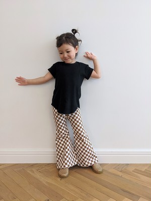 Kids Checker Bell Bottoms