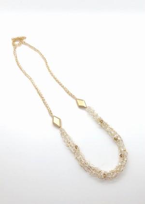 【キット】リリヤン編みのネックレスとイヤリング(レッスンVer・えびコード自作)