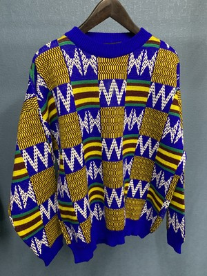 80's All patterns Acrylic sweater