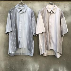"KIIT  ""100/2 cotton broad gradation stripe s/sleeve shirts"""