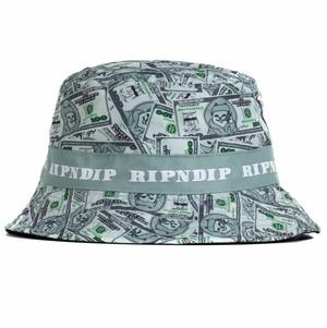 RIPNDIP - Money Bag Reversible Bucket Hat (Green / Black)