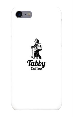 """Tabby Coffeeオリジナル""""旅するTabby Cat""""スマホケースです。(iphone7/8)"""