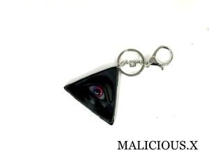 eye ring charm / magenta × violet