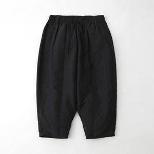 PARQUEST JACQUARD TAPERED SAROUEL PANTS - BLACK