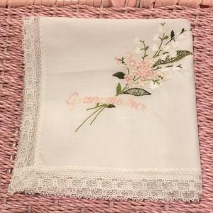 flower lace vintage ハンカチーフ