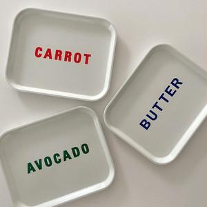 BUTTER AVOCADO CARROT tray / バター アボカド キャロット トレー おうちカフェ 韓国 雑貨