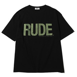 RUDE BIG SILHOUETTE TEE - GLITTER (BLACK) / RUDE GALLERY