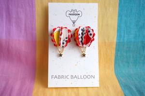 FABRIC BALLOON mini ピアス《semi circular》