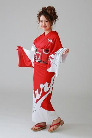 2019カープ浴衣 iki-粋-(赤白) レディースS~L 背番号あり ポリエステル100% 仕立て上がり 納期約3週間