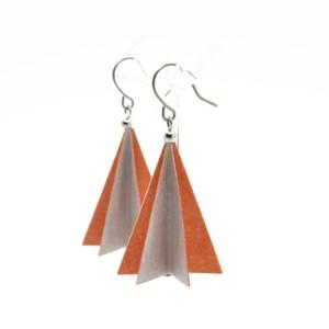 パラソルピアス-Gray×Pink orange-