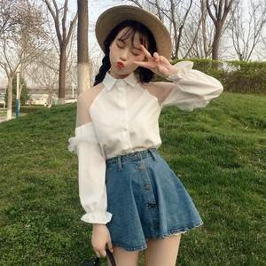【トップス】夏新作合わせやすいスウィート長袖POLOネックシャツ