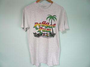 USビンテージ HANES BEEFY シングルステッチ REGGAE RUM レゲエ ラム JAMAICA ジャマイカ Tシャツ / 80s 90s OLD ラスタ