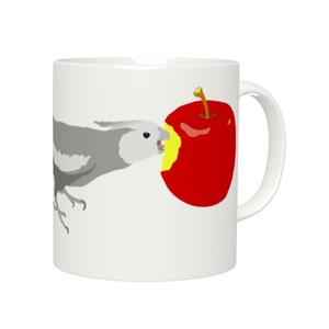 ことりちゃんマグカップ(オカメインコ ホワイトフェイス男の子)