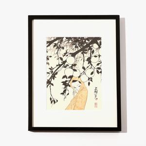 浮世絵版画3「冬の吐息」