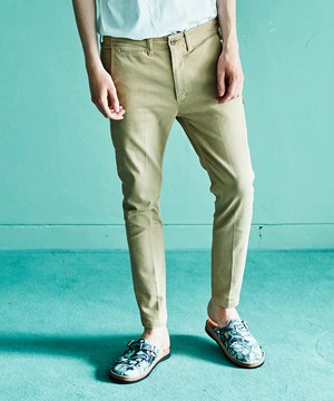 SEVESKIG セヴシグ / OVERDYE STRETCH CHINO'S / BEIGE