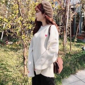 【お取り寄せ商品♡】ハート刺繍ニット day049