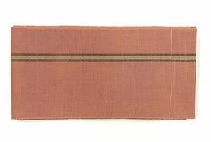 麻半巾帯(弁柄色)